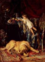 В мастерской художника (К.Е. Маковский, 1890-е г.)