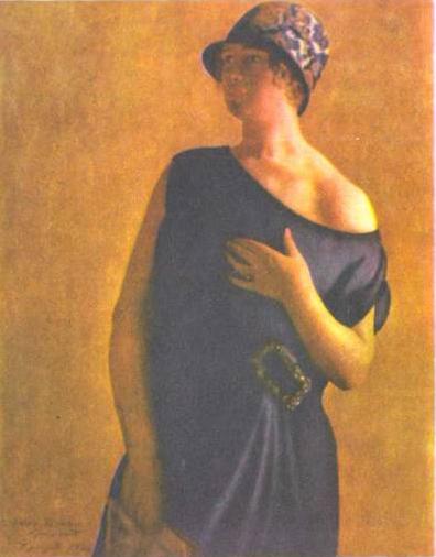 Портрет Ирины Кустодиевой (1926 г.)