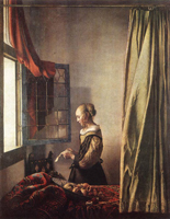Девушка, читающая письмо у окна (Ян Вермеер Делфтский. 1657)