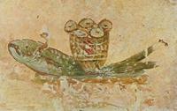 Евхаристический хлеб и рыба (катакомбы святого Каллиста)