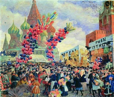 Вербный торг у Спасских ворот (1917 г.)
