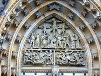 Барельеф на центральных воротах Собора Св. Витта. Прага