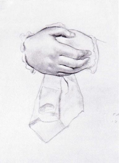 Рисунок рук к картине Купчиха