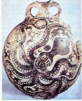 Ваза с осьминогом из Гурнии. Глина. Середина 2 тыс. до н.э. Гераклейон