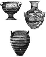 Керамика островных школ IX в до н.э.