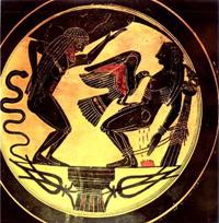 Атлант и Прометей (Чернофигурная керамика)