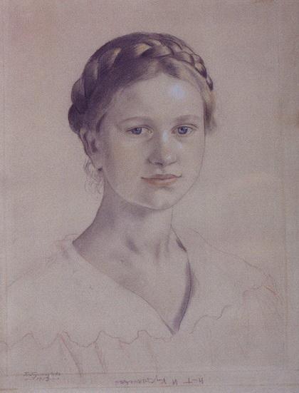 Портрет И.Б. Кустодиевой, дочери художника