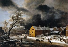 Зимний вечер (Якоб Рейсдал)
