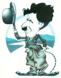 Шарж на Чарли Чаплина