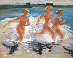 Бегущие девушки (А.А. Дейнека)