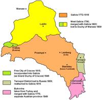 Карта Галиции (1772-1918)