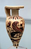 Сфинксы и совы. Коринфский арибалл. Около 630 до н.э. Государственное Античное собрание, Мюнхен.jpg