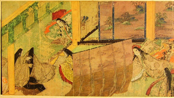 Иллюстрация из свитка Сказания о Генджи