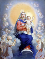 Богоматерь с младенцем в сонме ангелов (В.Л. Боровиковский)