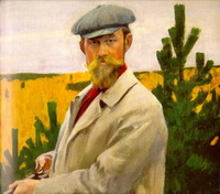 Автопортрет на охоте (Б.М. Кустодиев)