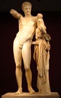 Гермес с младенцем Дионисом. Пракситель. Ок. 340 г. до н.э.