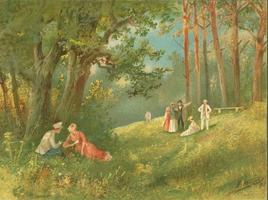 Прогулка в парке (Н.Н. Каразин, 1892 г.)
