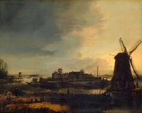 Пейзаж с мельницей (Арт ван дер Нер)
