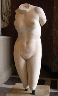 Пракситель. Афродита Книдская (350—330 гг. до н.э. Римская копия. Париж, Лувр)