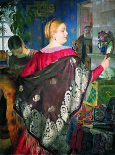 Купчиха с зеркалом, 1920 год