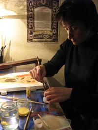 Технология изготовления: нанесение красок