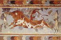 Игры с быком. Фреска. Кносский дворец
