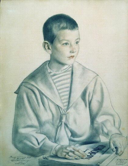 Портрет Мити Шостаковича (Б. Кустодиев, 1919 г.)