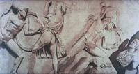 Битва с амазонками. (Скопас. Мрамор. Рельефный фриз Галикарнасского Мавзолея. IV в. до н.э.)