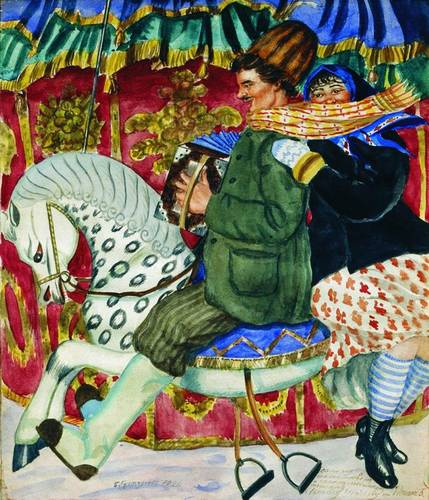 Карусель (из серии Русские типы, 1920 г.)
