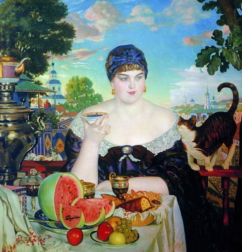 Купчиха за чаем (1918 г.)