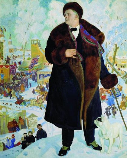 Портрет Ф.И. Шаляпина (Б. Кустодиев, 1922 г.)