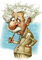 Шарж на Эйнштейна (Владимир Лукаш)