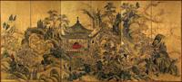 Китайский ландшафт (Икено Тайга. XVIII в.)