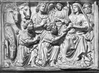 Поклонение волхвов. Рельеф кафедры баптистерия в Пизе