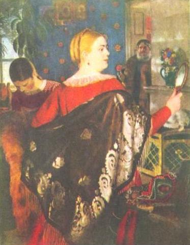 Купчиха с зеркалом (1920 г.)