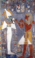 Хоремхеб перед Осирисом (фреска)