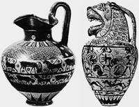 Коринфская керамика (около 600 г. до н.э.)