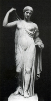 Афродита в садах. Мрамор. Римская копия. V в. до н.э. Париж. Лувр