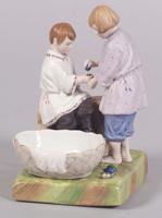 Фарфоровый завод Гарднера. Пасхальное битие яиц, середина XIX века