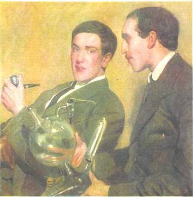 Портрет П.Л. Капицы и Н.Н. Семенова