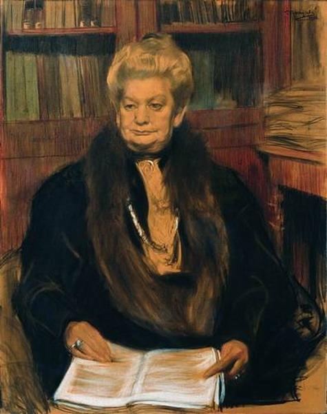 Портрет писательницы Александры Васильевны Шварц.