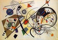 Секущая линия (В. Кандинский, 1923)