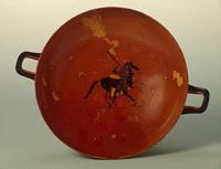 Геракл, укрощающий коня Диомеда (Псиакс. Килик. 520-е гг. до н.э.)
