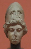 Голова Афины. Мирон.Римская копия. 460-445 гг. до н.э. Альбертинум, Дрезден