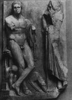 Надгробие юноши с реки Илисса. Скопас. Мрамор. Афины. Национальный музей