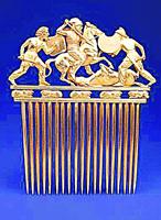 Золотой гребень из кургана солоха. V в. до н.э.