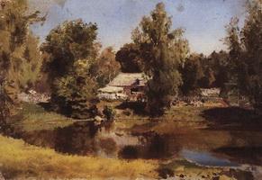 Верхний пруд в Абрамцево (В.Д. Поленов)