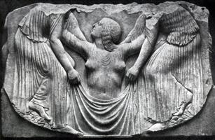 Рождение Афродиты (Мрамор. Около 470 г. до н.э. Рим. Музей Терм)