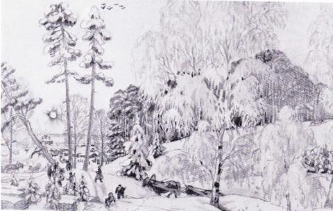 Зима (из серии Времена года, 1919 г.)