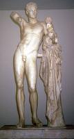 Пракситель. Гермес с младенцем Дионисом. IV в. до н.э. Копия. Олимпия, Археологический музей